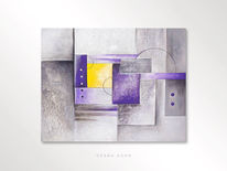 Abstrakt, Lila, Silber, Effekt