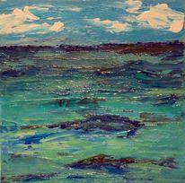 Malerei, Acrylmalerei, Meer, Wasser