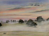 Morgenstimmung, Baum, Nebel, Waldbronn
