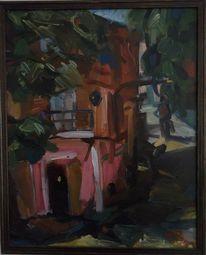 Malerei, Stadt, Osten
