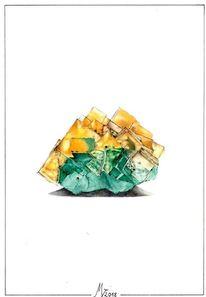 Kristall, Aquarellmalerei, Mineral, Wissenschaft