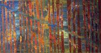 Rot blau malerband, Malerei