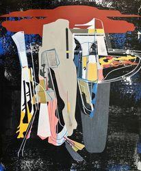 Zeitgenössisch, Orbit, Probe, Abstrakt maleri