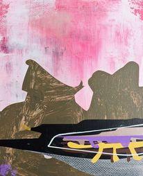 Modern, Abstrakt maleri, Taide, Landschaft