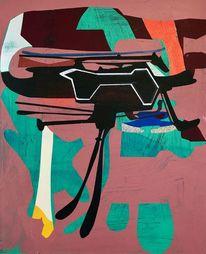 Malerei, Abstrakt, Gemälde, Orbit