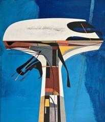 Metaphysisch, Modern, Luft, Abstrakt maleri