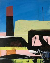 Acrylmalerei, Abstrakt, Metaphysisch, Modern
