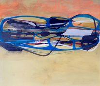 Abstrakte malerei, Schwarz, Welt, Organisch
