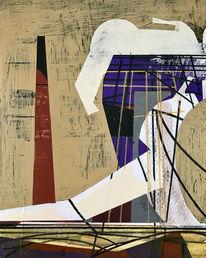 Zeitgenössisch, Abstrakt, Acrylmalerei, Technik