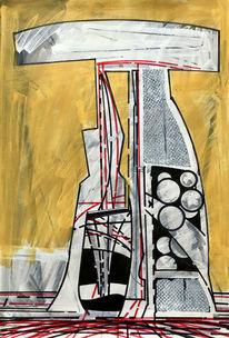 Luft, Metaphysisch, Acrylmalerei, Avantgarde