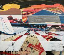 Landschaft, Abstrakt, Modern, Abstrakt maleri