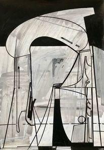 Futurismus, Acrylmalerei, Abstrakt, Luft