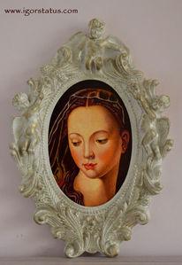 Gesicht, Rosenkranz, Frau, Portrait