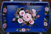Blumen, Dekoration, Acrylmalerei, Holz