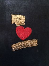 Fantasie, Herz, Gold, Ausdruck