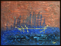 Horizont, Lebenslinien, Liebespaar, Malerei