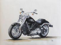 Harley davidson, Technik, Motorrad, Schwarz