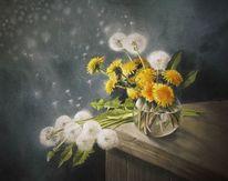 Blumen, Sommer, Stillleben, Löwenzahn