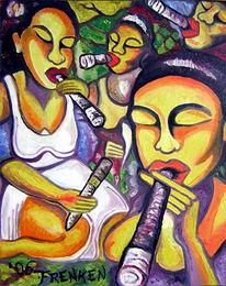 Tanz, Kuba, Zigarre, Bunt