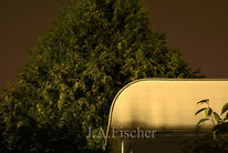 Nacht, Wohnwagen, Licht, Fotografie