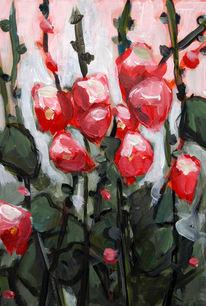 Acrylmalerei, Blumen, Stillleben, Malerei