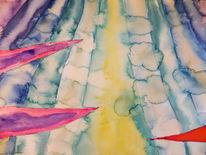 Spitze, Bänder, Streifen, Aquarell