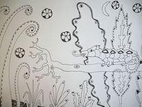 Chamäleon, Äste, Busch, Zeichnungen