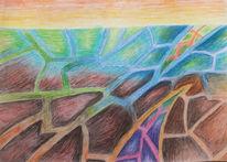 Dreieck, Farben, Spitze, Zeichnungen