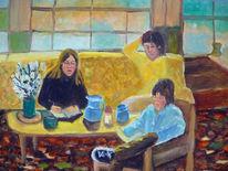 Wohnzimmer, Familie, Geschwister, Malerei