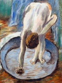 Mädchen, Akt, Frau, Malerei