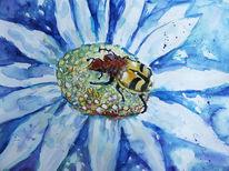 Käfer, Blumen, Insekten, Aquarell