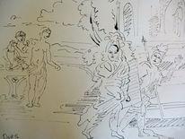 Soldat, Ritter, Krieger, Zeichnungen