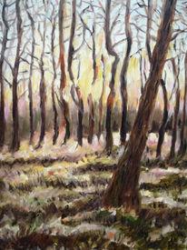 Baum, Sonne, Wald, Malerei