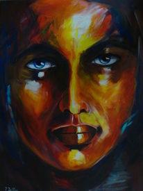 Portrait, Bunt, Popart, Gesicht