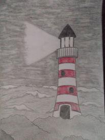 Meer, Sturm, Leuchtturm, Licht