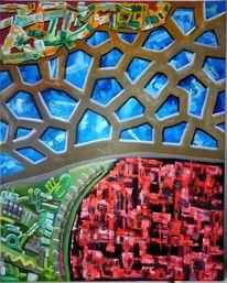 Gestisch, Komplexität, Ölmalerei, Kontrast