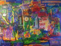 Acrylmalerei, Intuition, Bunt, Abstrakt