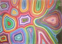 Abstrakt, Bunt, Ölmalerei, Malerei