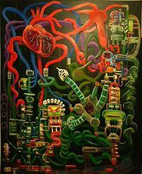 Surreal, Pinselstriche, Ölmalerei, Komplexität
