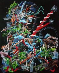 Abstrakt, Chaos, Komplexität, Ölmalerei
