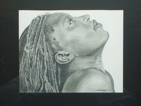 Mund, Nase, Portrait, Zeichnung