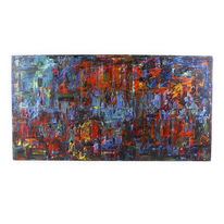 Groß, Malerei, Abstrakt, Spachteltechnik