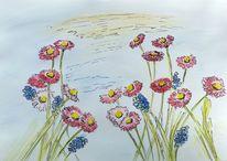 Landhaus, Blumen, Seele, Margariten