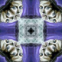 Mystik, Gesicht, Lila, Magie