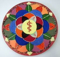 Symbol, Äskulap, Rund, Mandala