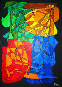 Farben, Acrylmalerei, Abstrakt, Mosaik