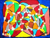 Wachs, Mosaik, Acrylmalerei, Abstrakt
