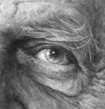 Bleistiftzeichnung, Popper, Augen, Zeichnung