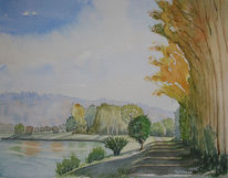Ruhr, Leinpfad, Baum, Hattingen