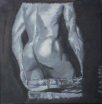 Mann, Körper, Muskulatur, Jeans
